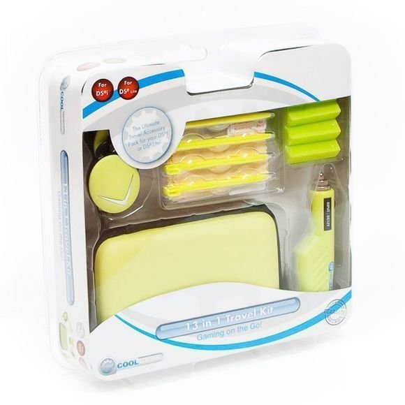 13 in 1 Travel Kit for NDS Lite and DSi Green (Coolgear)