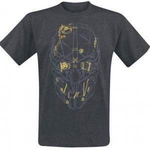 Dishonored 2 Corvos' Mask Gold T-Paita