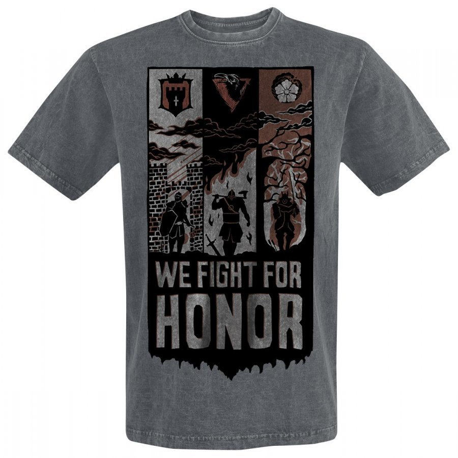 For Honor We Fight Banner T-Paita
