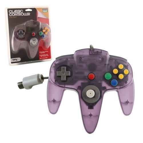 N64 Classic Controller Clear Purple TTX