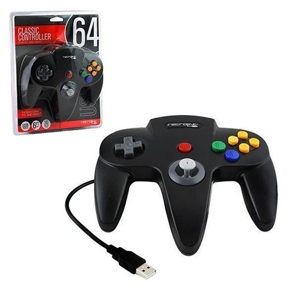 N64 Controller USB Black Retro-Bit (Black)