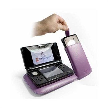 Nintendo 3DS Tuff-Luv Faux Leather Case Purple