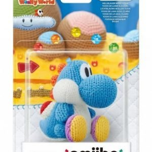 Nintendo Amiibo Figurine Yarn Yoshi Light Blue