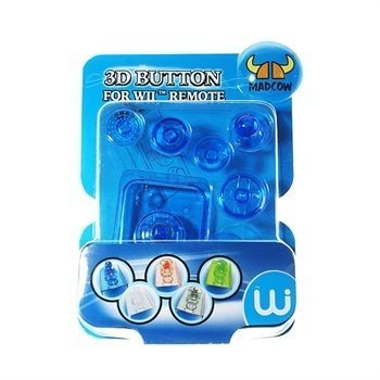 Nintendo Wii Blue Remote Crystal 3D Button