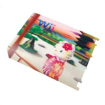 Nintendo Wii Kitty in Woods Console 3D Illusional Protective Film