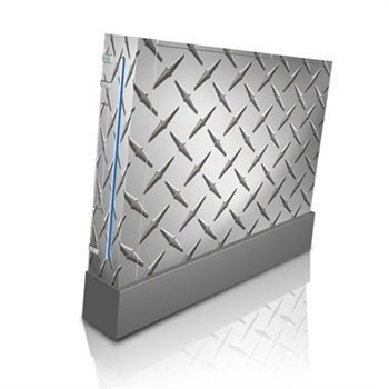 Nintendo Wii Skin Diamond Plate