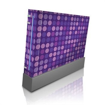 Nintendo Wii Skin Purple Dots