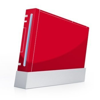 Nintendo Wii Skin Solid State Red