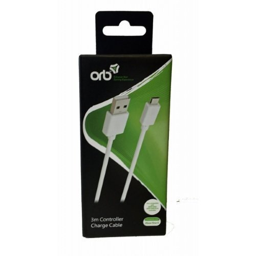 ORB Xbox One S Controller Charge Cable (3m)