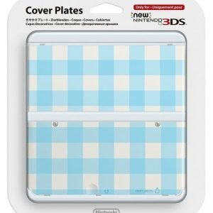 Official Cover Plate for New Nintendo 3DS - Light Blue Check