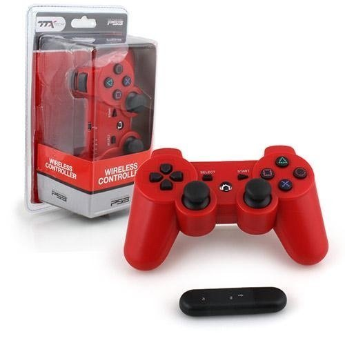 PS3 Controller Wireless - 2.4 GHZ Controller - Red  TTX
