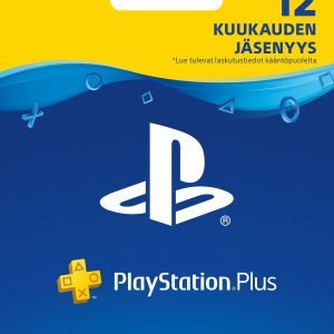 Playstation 4 Playstation Network Plus Kortti Ps4 12 Kk