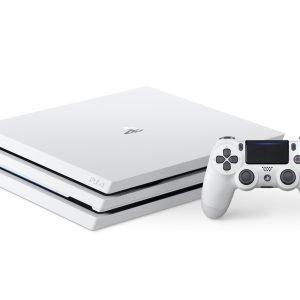 Playstation 4 Ps4 Pro Valkoinen Pelikonsoli Cuh 7200