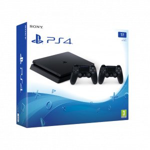 Playstation 4 Ps4 Slim 1 Tt Pelikonsoli + Dual Shock 4 Lisäohjain