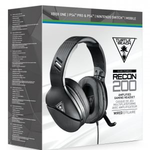 Playstation 4 Turtle Beach Recon 200 Black Multiformat Headset Pelikuulokkeet