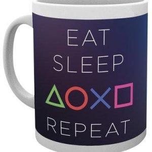 Playstation Eat Sleep Repeat Muki