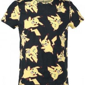 Pokemon Pikachu Allover T-Paita
