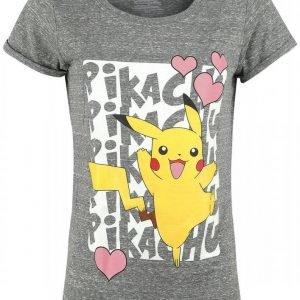 Pokemon Pikachu Love Naisten T-Paita