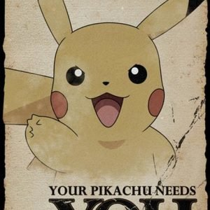Pokemon Pikachu Needs You Juliste