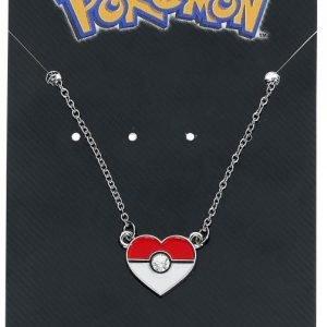 Pokemon Pokeball Heart Shaped Kaulakoru