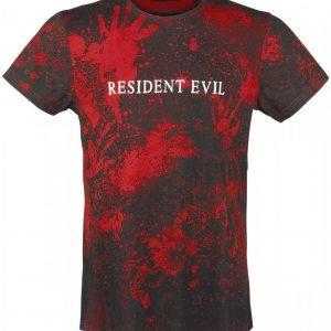 Resident Evil Blood Pattern T-Paita