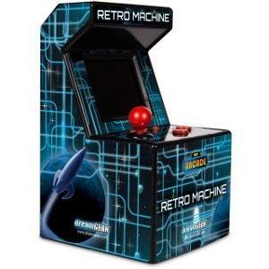 Retro Line Retro Arcade Machine Käsikonsoli 200 Retro Peliä Musta/Sininen