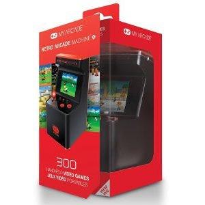 Retro Line Retro Arcade Machine Käsikonsoli 300 Retro Peliä Musta