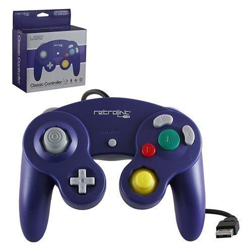 Retrolink Gamecube Pad USB Purple Retrolink