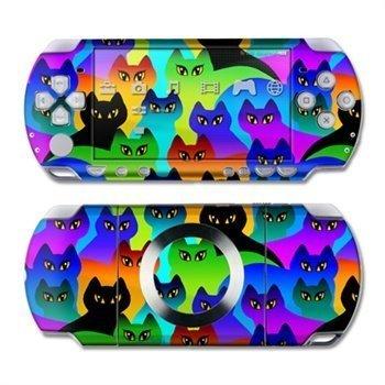 Sony PSP Slim & Lite Skin Rainbow Cats