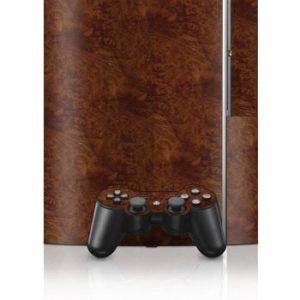 Sony PlayStation 3 Skin Dark Burlwood