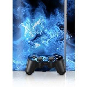 Sony PlayStation 3 Skin Quantum Waves Blue