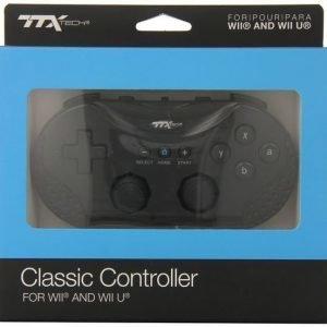 TTX Tech - Classic Wii / Wii U - Controller - Black