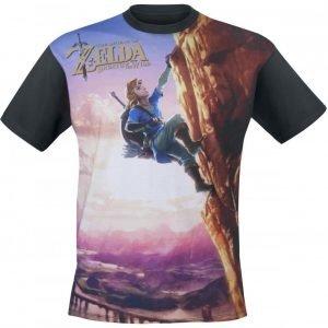 The Legend Of Zelda Breath Of The Wild All Over Link Climbin T-Paita