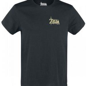 The Legend Of Zelda Breath Of The Wild Golden Game Logo T-Paita