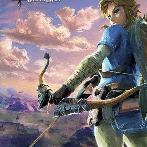 The Legend Of Zelda Breath Of The Wild Hyrule Scene Landscape Juliste