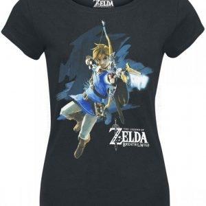 The Legend Of Zelda Breath Of The Wild Link With Arrow Naisten T-Paita
