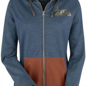 The Legend Of Zelda Breath Of The Wild Puffprint Hoodie Naisten Vetoketjuhuppari