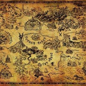 The Legend Of Zelda Hyrule Map Juliste