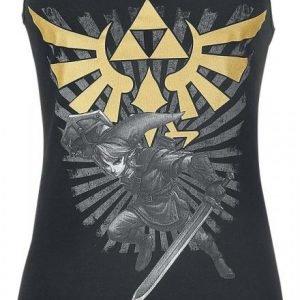 The Legend Of Zelda Triforce Link Naisten Toppi