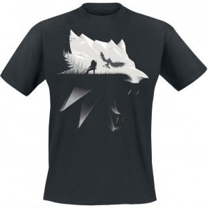 The Witcher Wolf Silhouette T-Paita