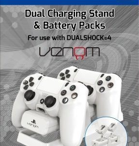 Venom Dual Charging Stand & Battery Pack White